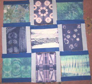 Shibori quilt