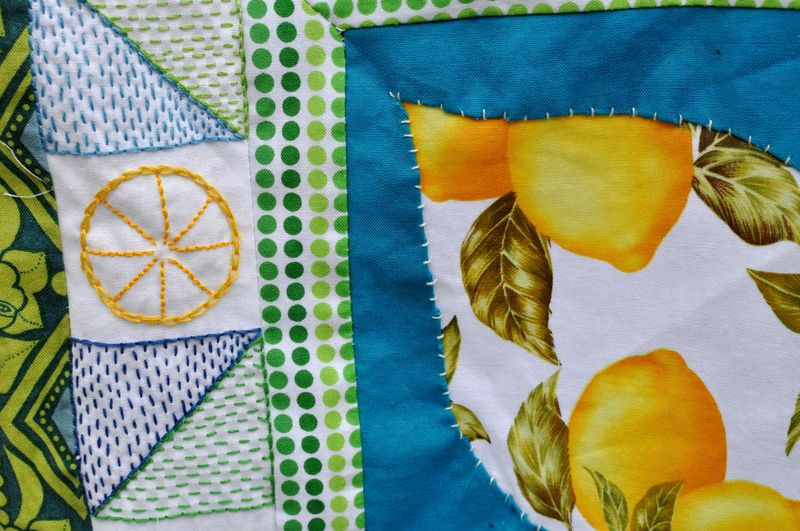 More lemon quilt embroidery