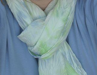 Arashi silk scarf tied
