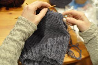 Knitting class hats 2