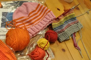 Knitting class hats