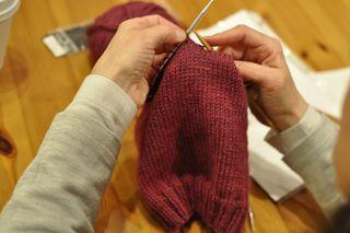 Knitting class hats 3