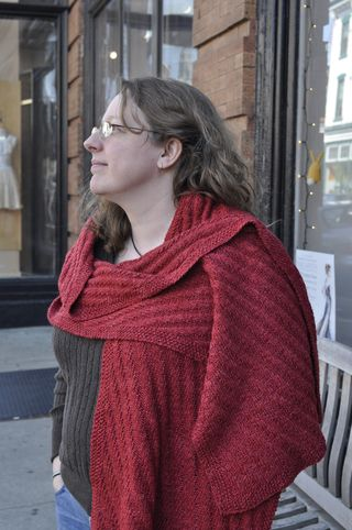 Ribbed shawl profile