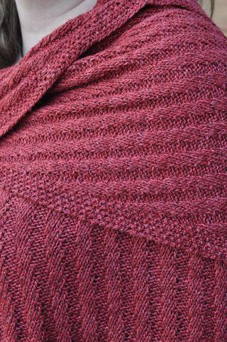 Ribbed shawl